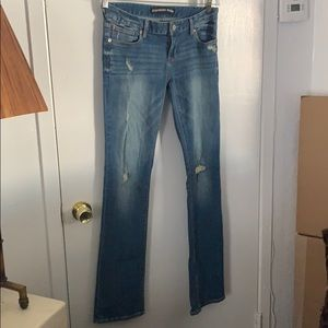 Barely boot jeans